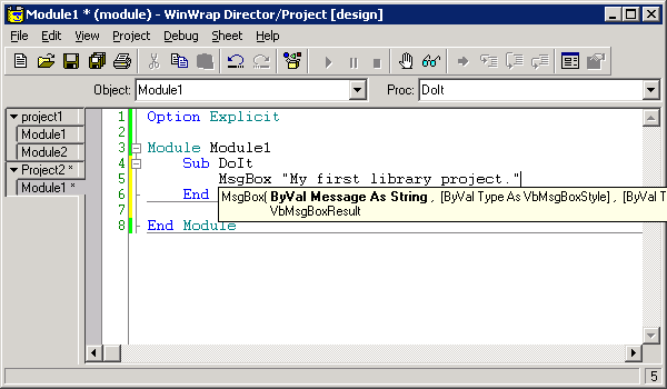 WinWrap® Basic Projects Features