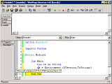 Script debugger can set break points, watch variable values, and control program execution