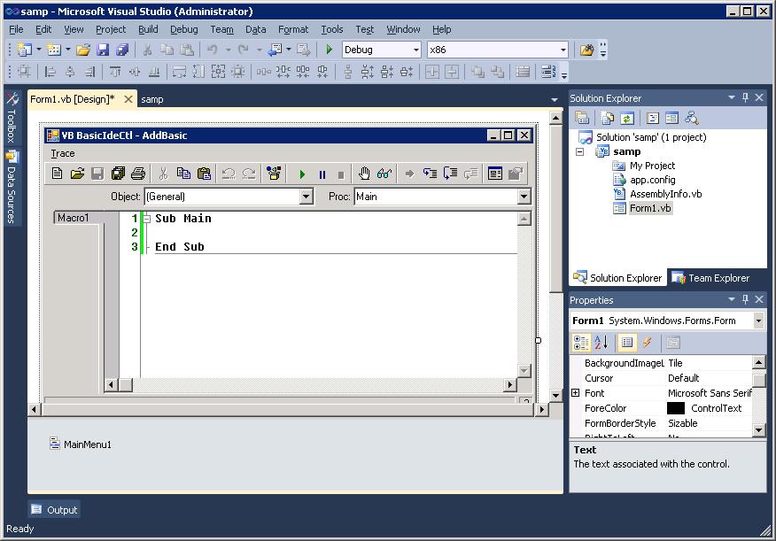 WinWrap® | Microsoft Visual Studio 2010 Support