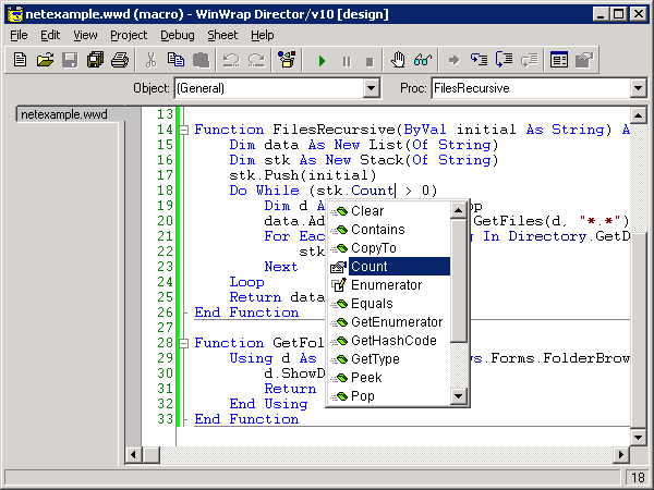 WinWrap®   Microsoft Visual Studio 2015 Support