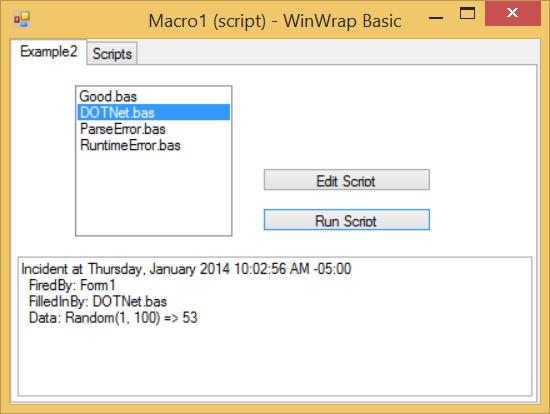 WinWrap® | Using WinWrap® Basic IDE in a WinForms Tab Control