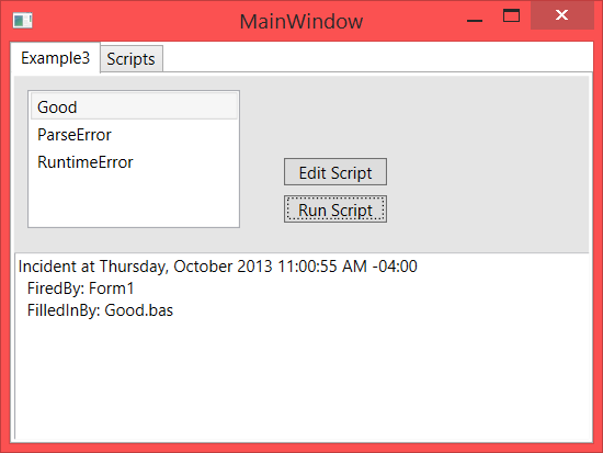 WinWrap® | Using WinWrap® Basic IDE in a WPF Tab Control