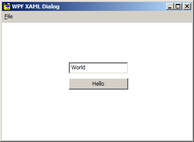 WPF XAML Project Example