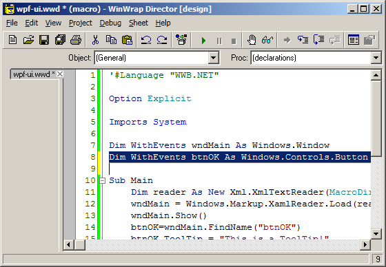WinWrap® | Display Custom WPF XAML User Interface Windows